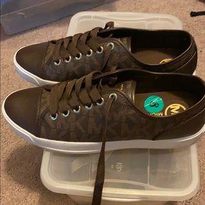 Michael Kors Women Sneakers (Brown)